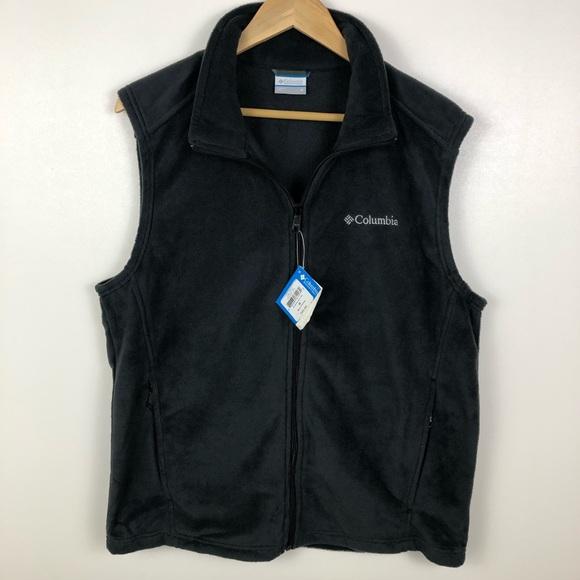 Columbia Men's Full Zip Fleece Outdoor Casual Vest